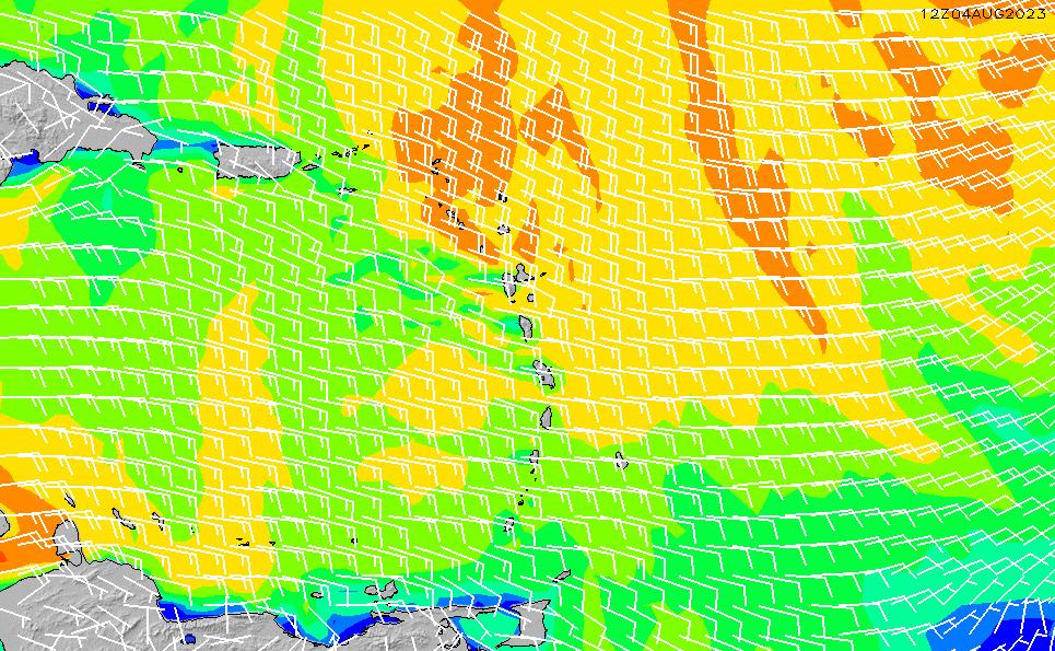 2021/7/28(水)10:00風速・風向