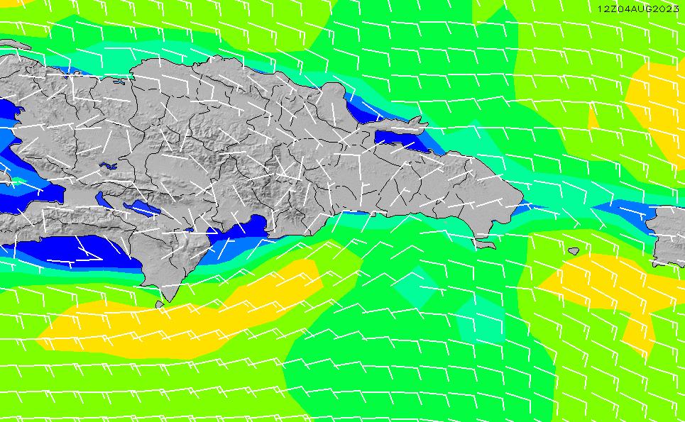 2021/1/21(木)16:00風速・風向