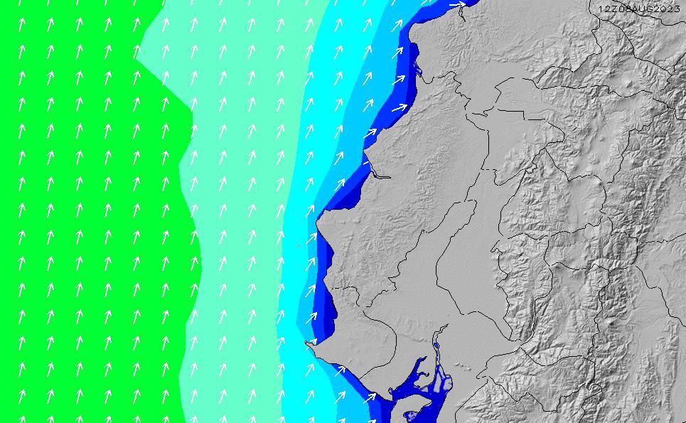 2021/3/3(水)11:00波高チャート