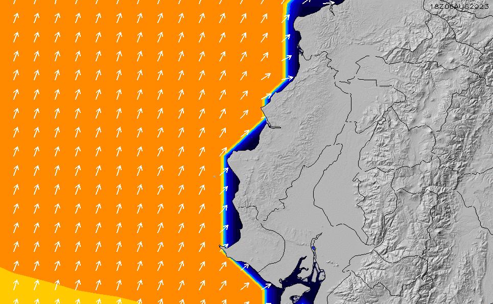 2020/9/26(土)17:00ポイントの波周期