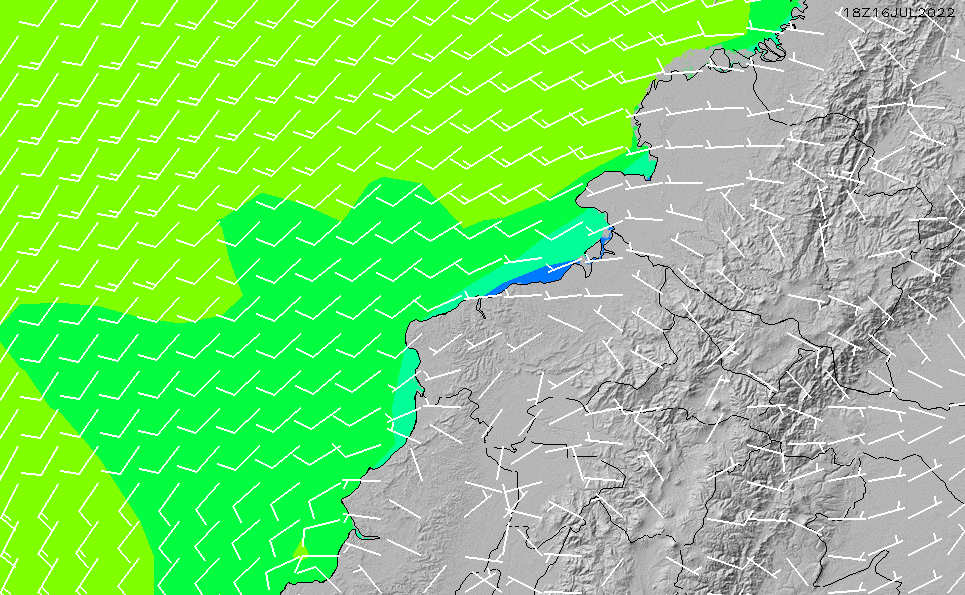 2021/3/3(水)11:00風速・風向