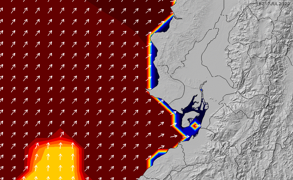 2020/9/30(水)23:00ポイントの波周期
