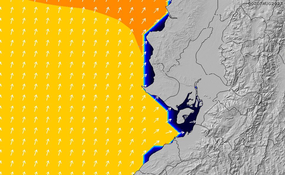 2020/9/24(木)5:00ポイントの波周期