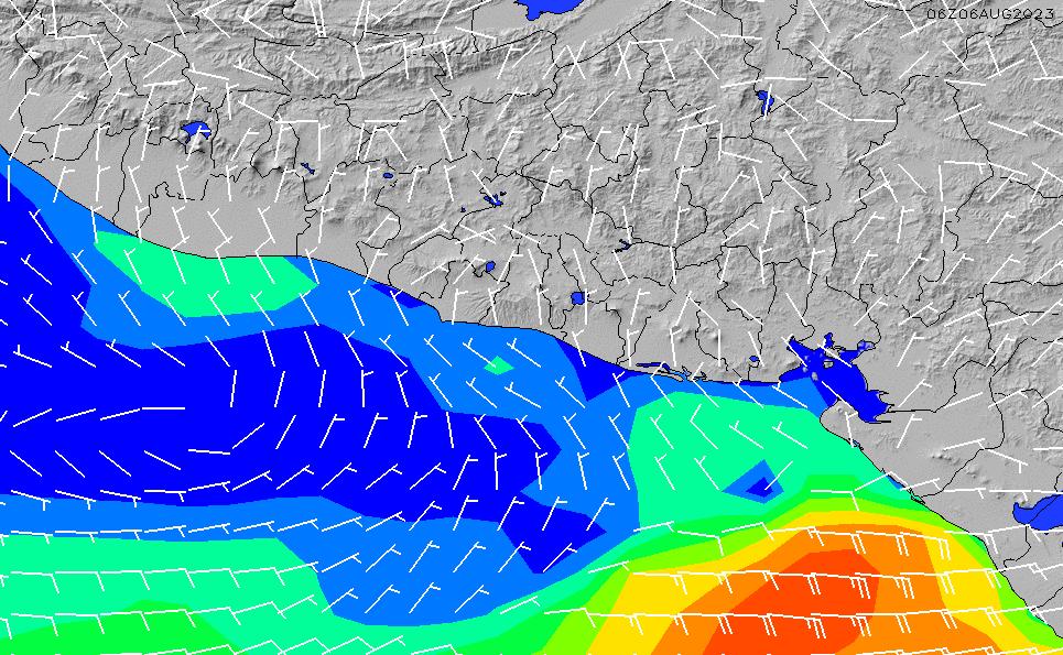 2020/5/31(日)18:00風速・風向
