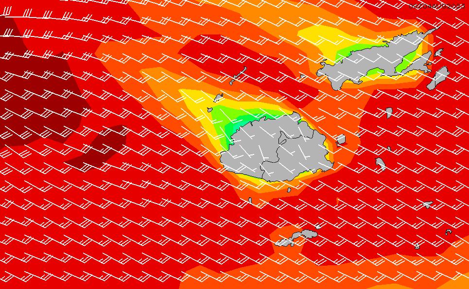 2020/7/15(水)18:00風速・風向