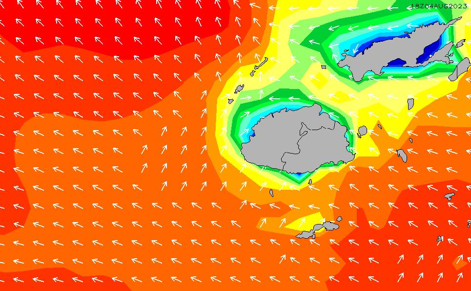 2021/7/31(土)12:00波高チャート