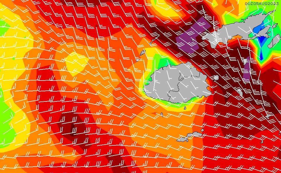 2021/3/7(日)6:00風速・風向