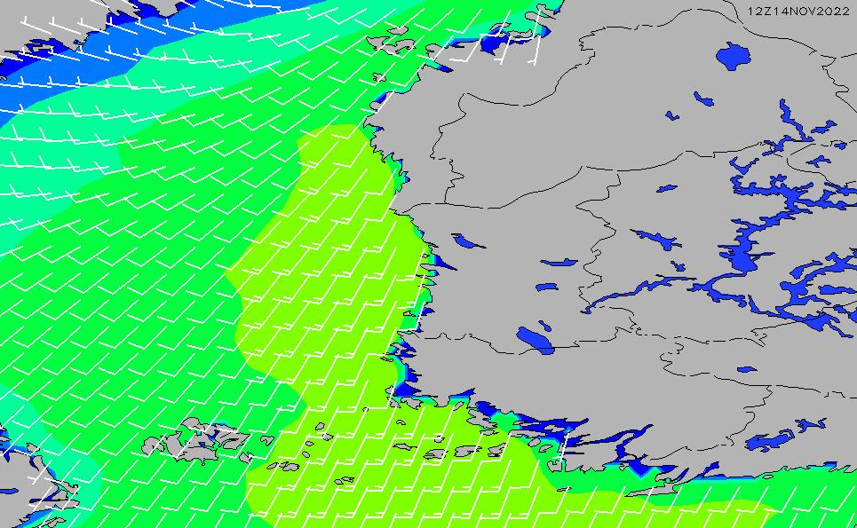 2021/3/6(土)8:00風速・風向