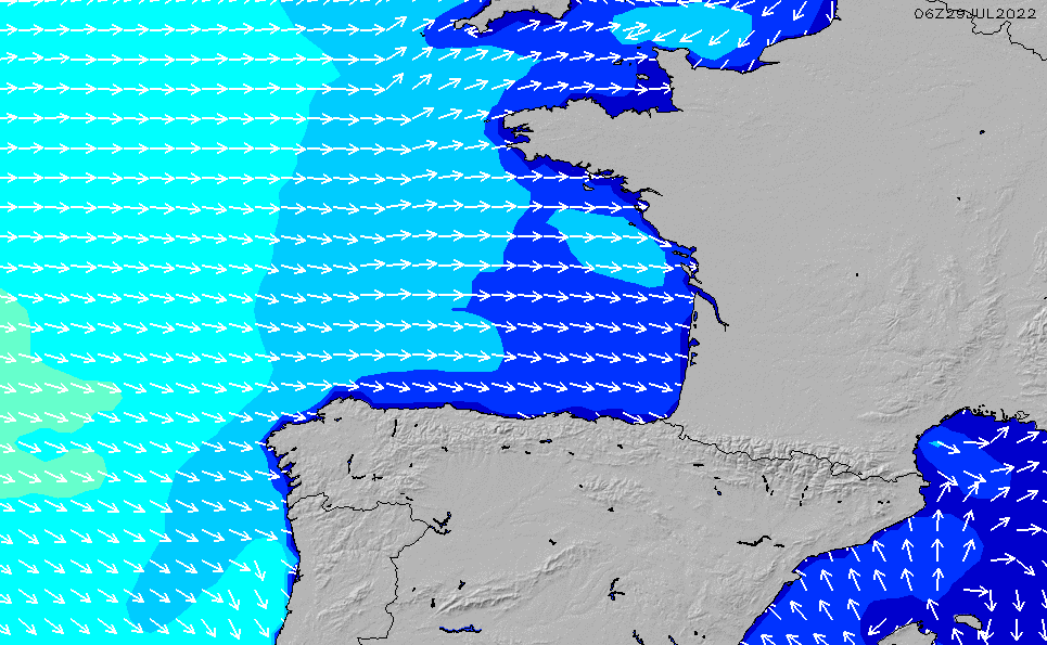 Map Of Northwest France.France Wave Height Forecast Chart Surfline