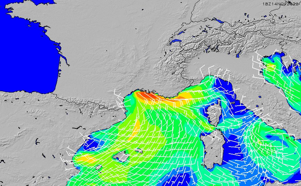 2020/8/8(土)8:00風速・風向