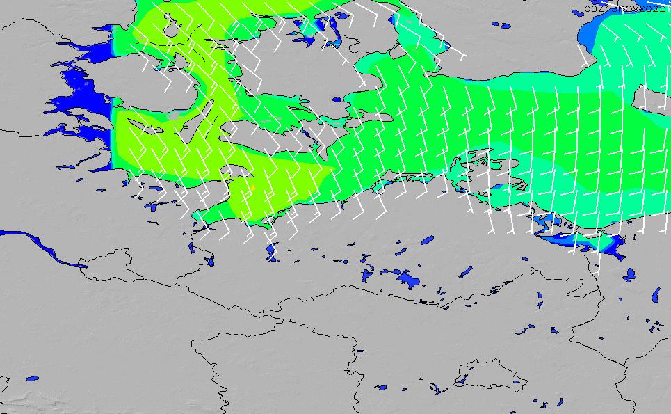 2021/4/11(日)20:00風速・風向