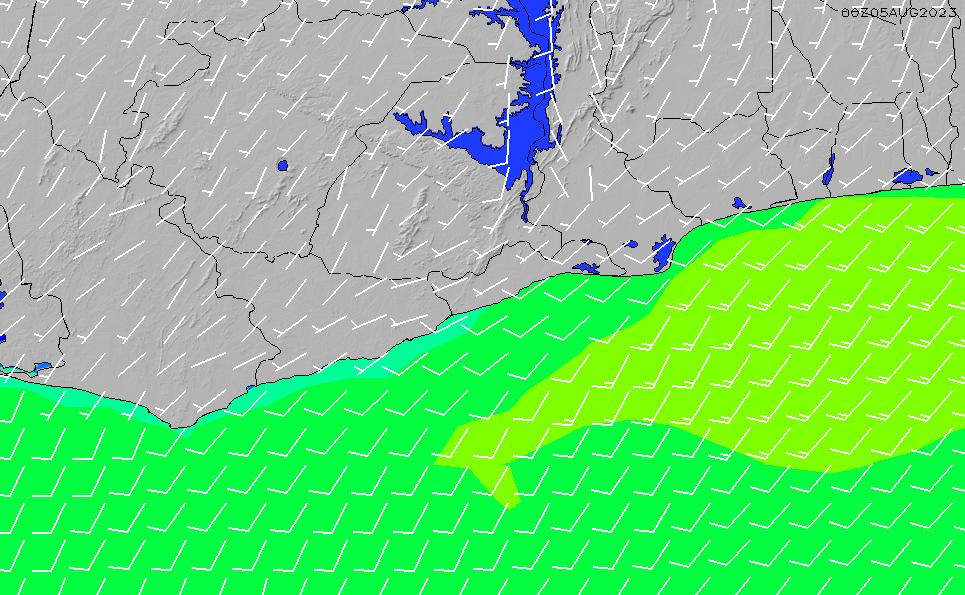 2021/5/12(水)6:00風速・風向