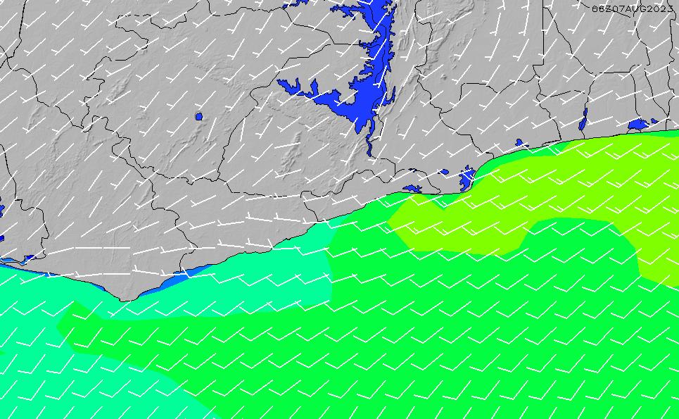 2021/5/17(月)6:00風速・風向