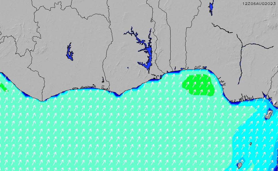 2021/5/12(水)6:00波高チャート