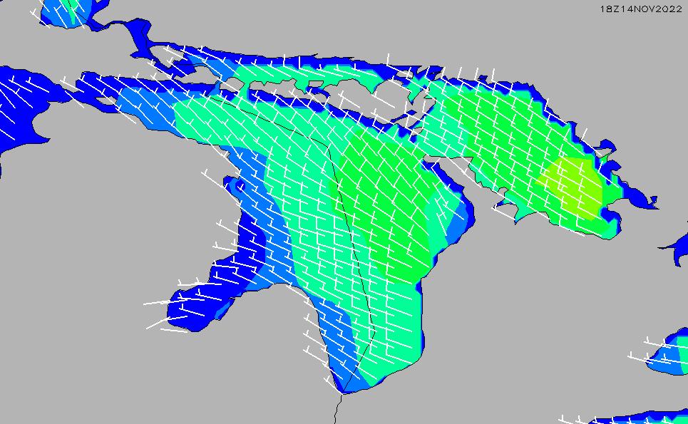 2021/3/2(火)5:00風速・風向