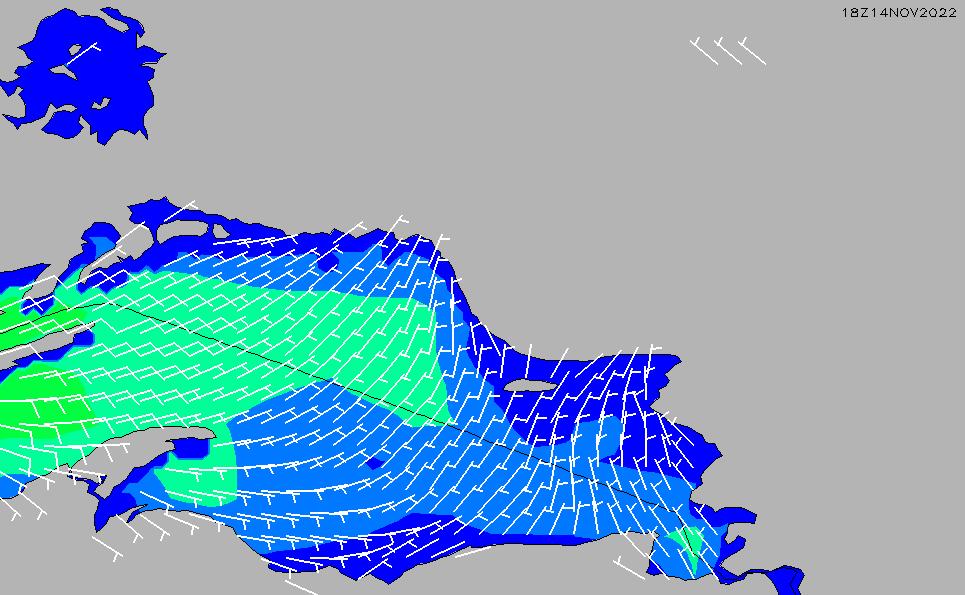 2021/3/1(月)5:00風速・風向