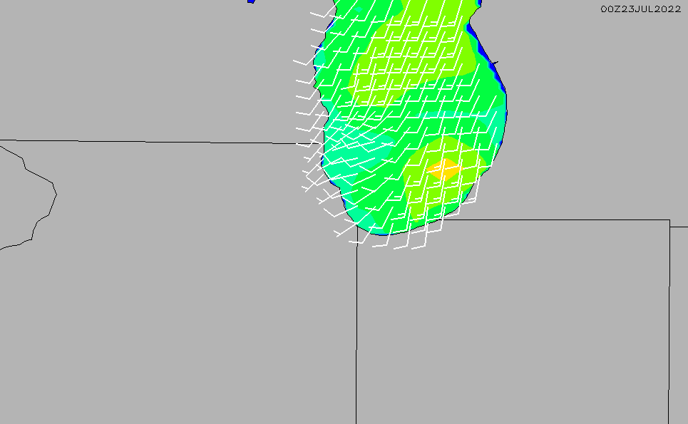 2015/1/30(金)11:00風速・風向