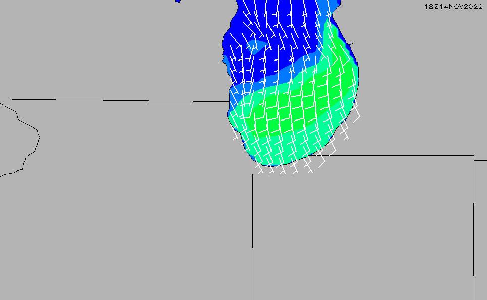 2021/3/4(木)23:00風速・風向