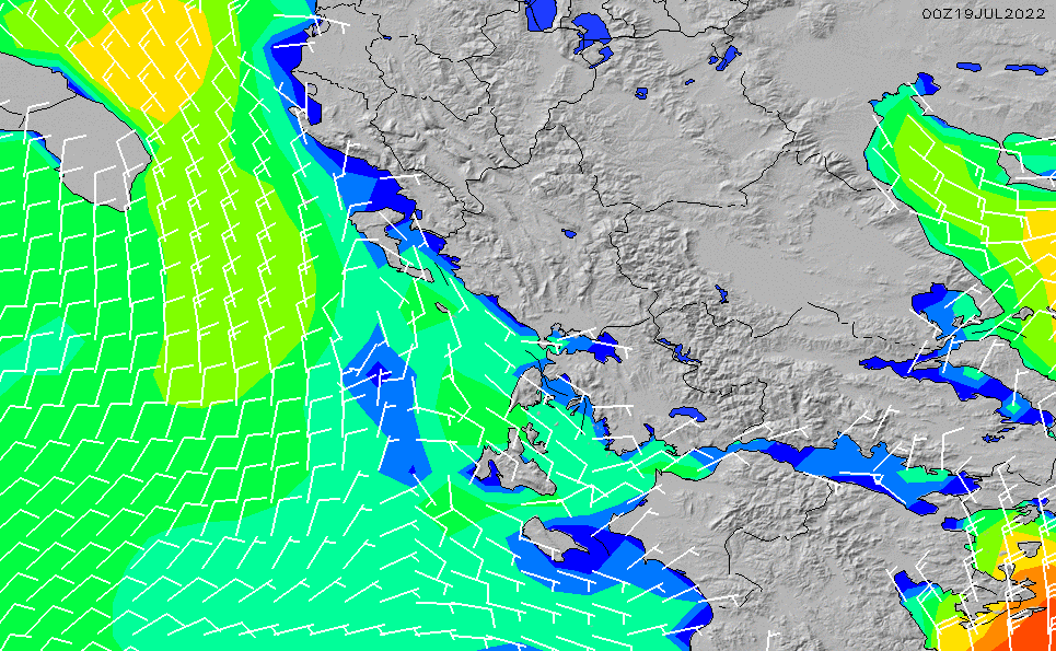 2021/3/6(土)20:00風速・風向