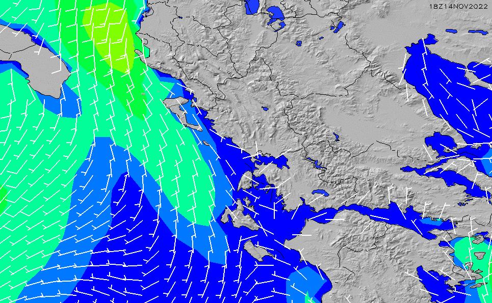 2021/3/4(木)2:00風速・風向