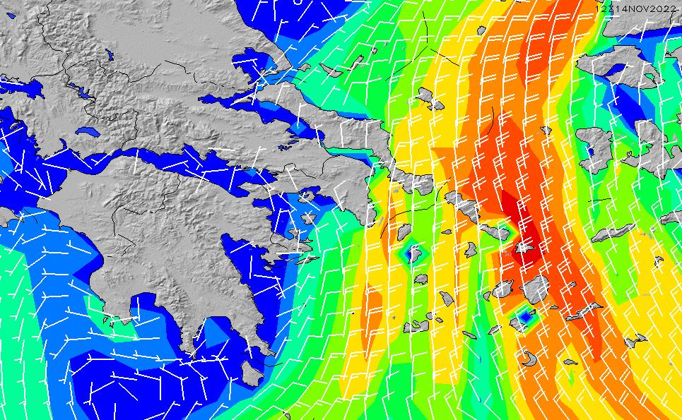 2021/10/25(月)9:00風速・風向