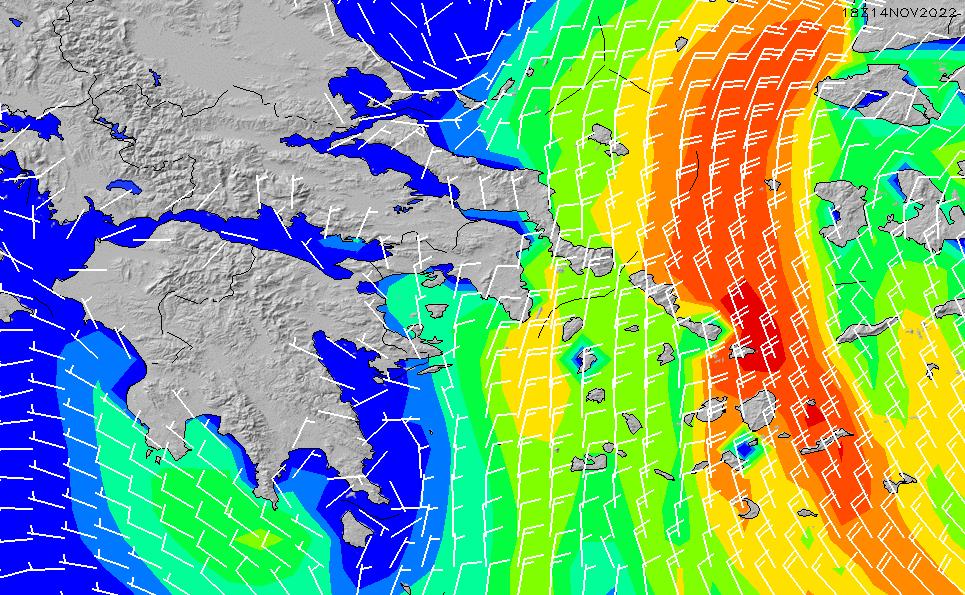 2021/3/1(月)2:00風速・風向