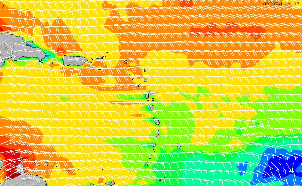 2021/3/8(月)10:00風速・風向