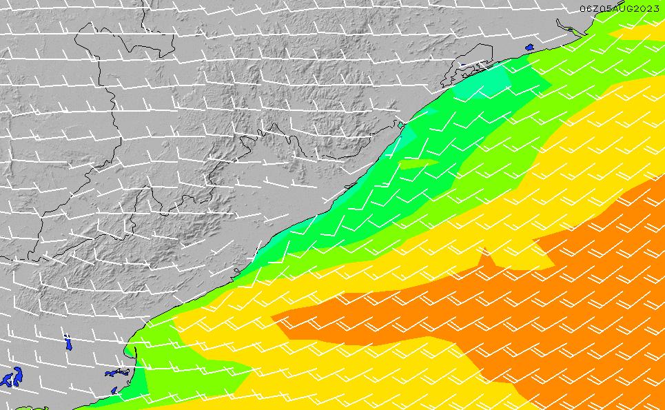 2020/9/20(日)11:00風速・風向