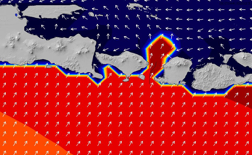 2021/3/3(水)20:00ポイントの波周期