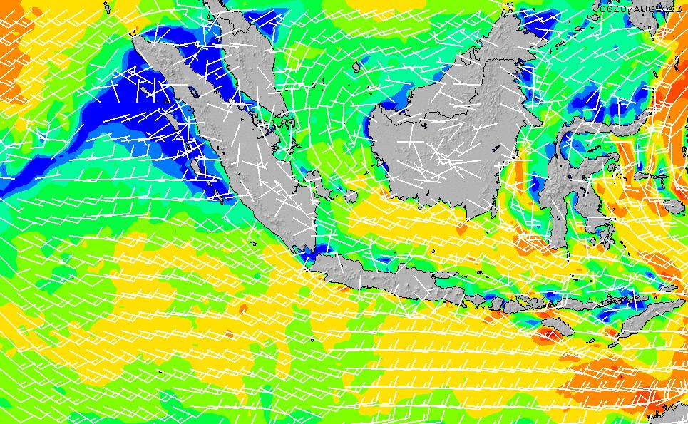 2020/7/15(水)13:00風速・風向