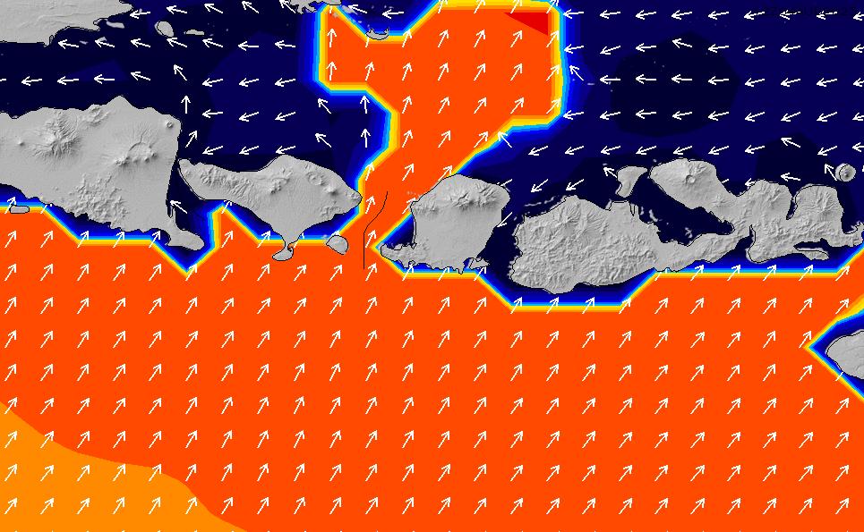 2021/10/25(月)20:00ポイントの波周期
