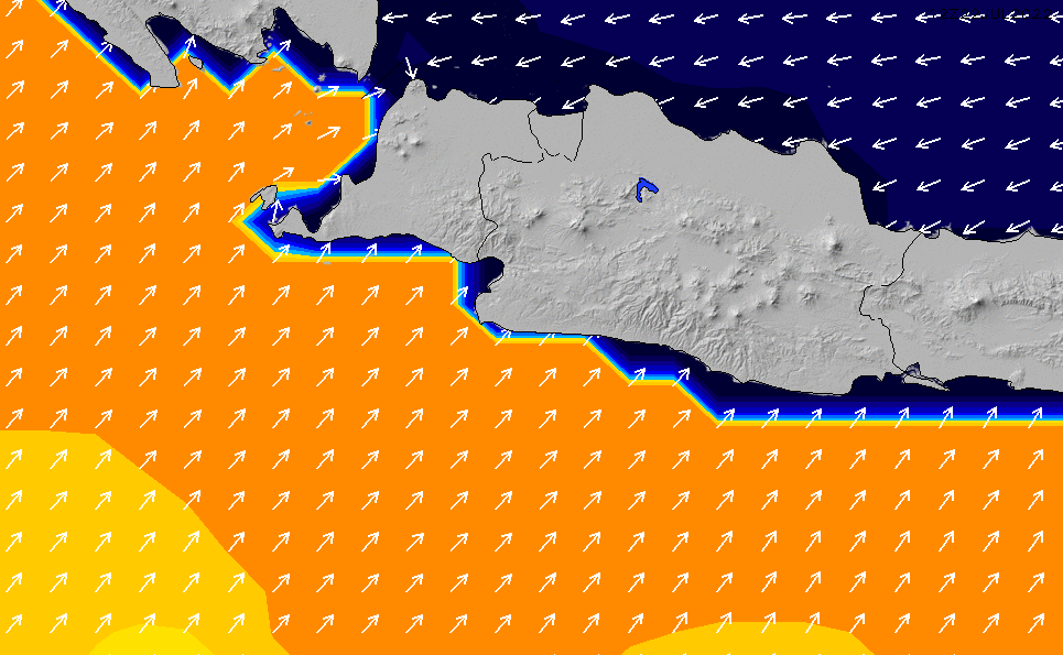 2021/10/20(水)19:00ポイントの波周期