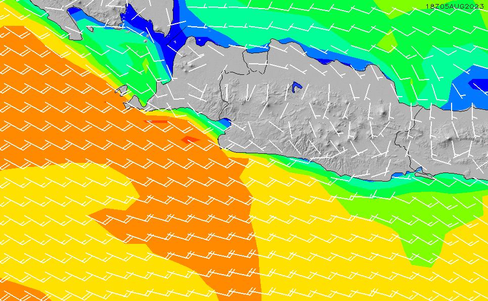 2021/6/17(木)1:00風速・風向