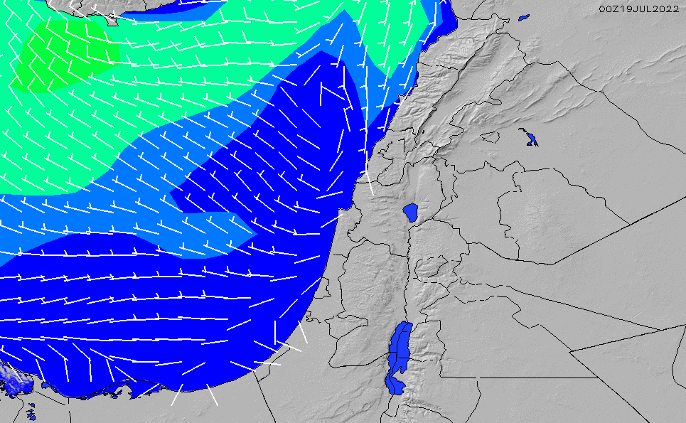 2021/2/25(木)14:00風速・風向