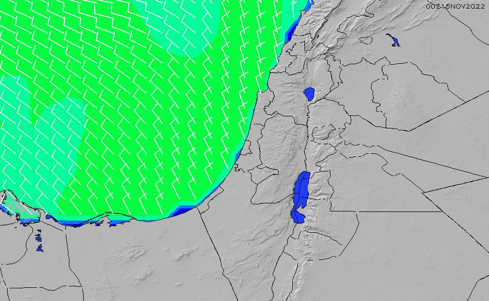 2021/10/22(金)9:00風速・風向