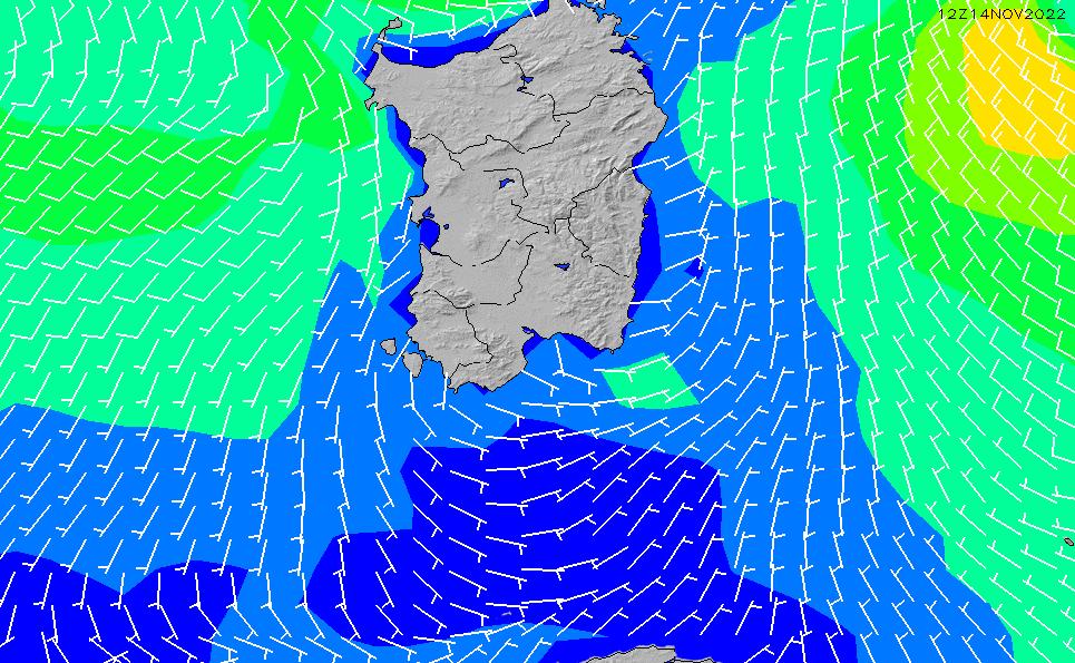 2020/7/8(水)8:00風速・風向