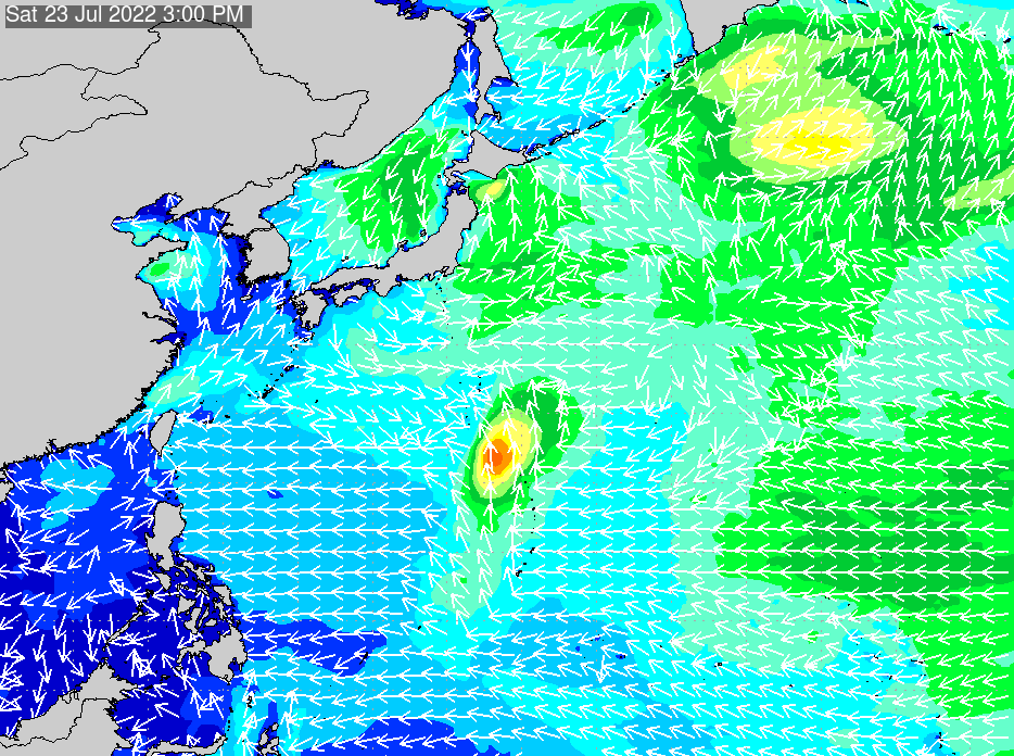 2019年11月18日(月)18:00の波浪画像