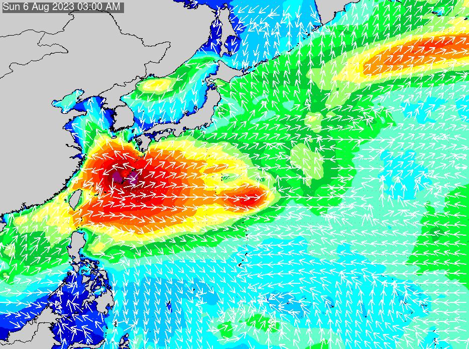 2019年9月23日(月)18:00の波浪画像