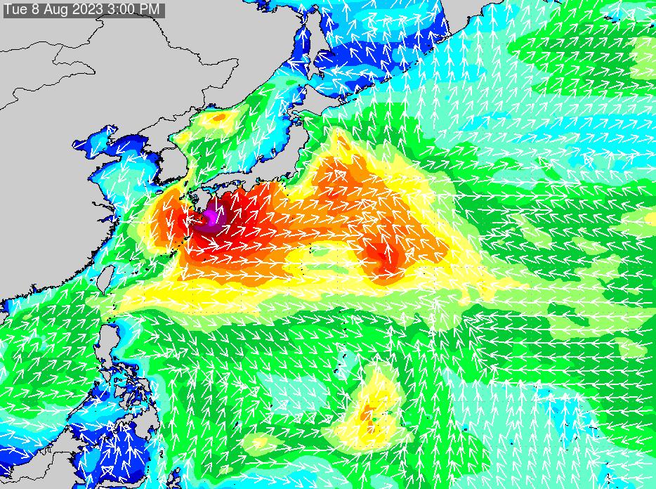 2019年11月19日(火)12:00の波浪画像