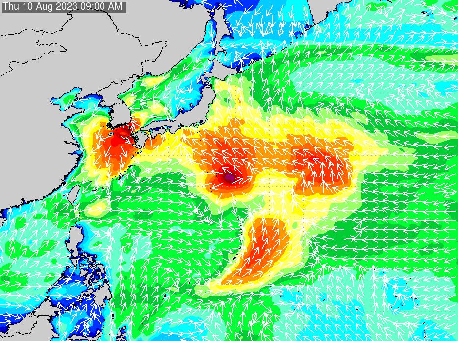 2019年6月22日(土)18:00の波浪画像