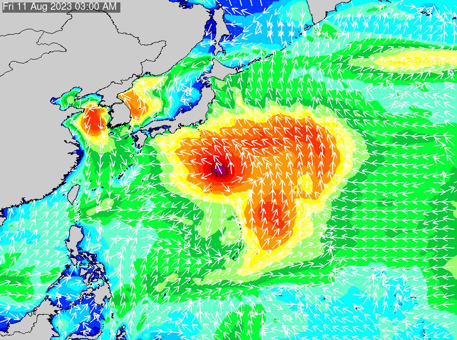 2019年11月20日(水)0:00の波浪画像