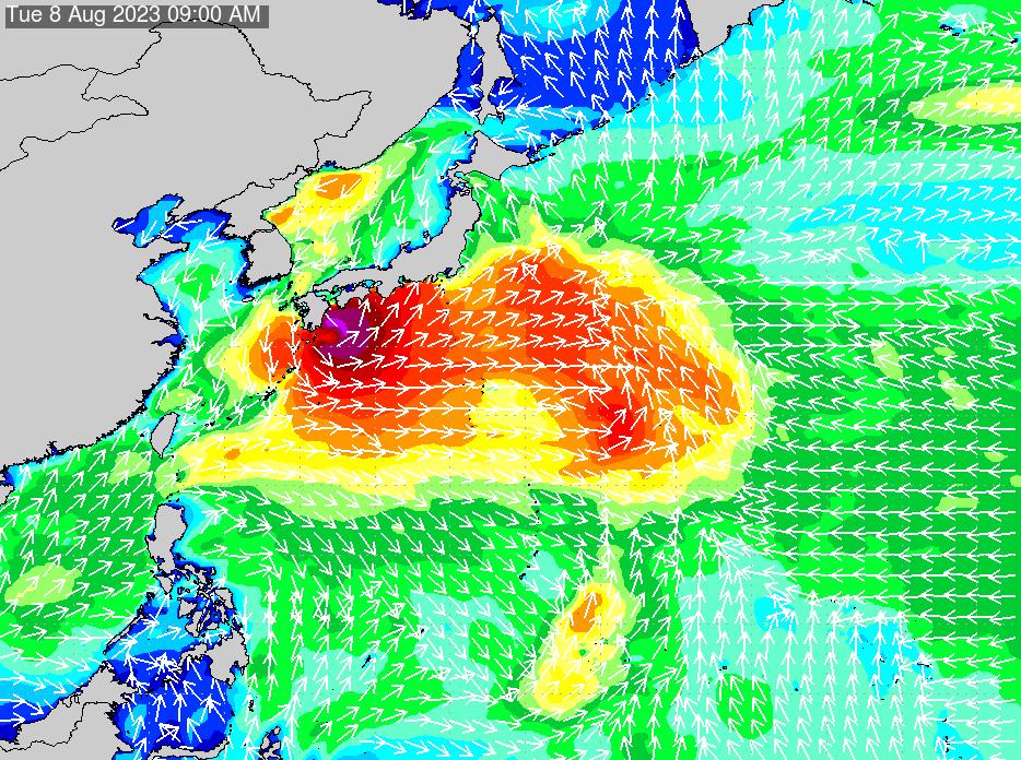 2019年9月24日(火)18:00の波浪画像