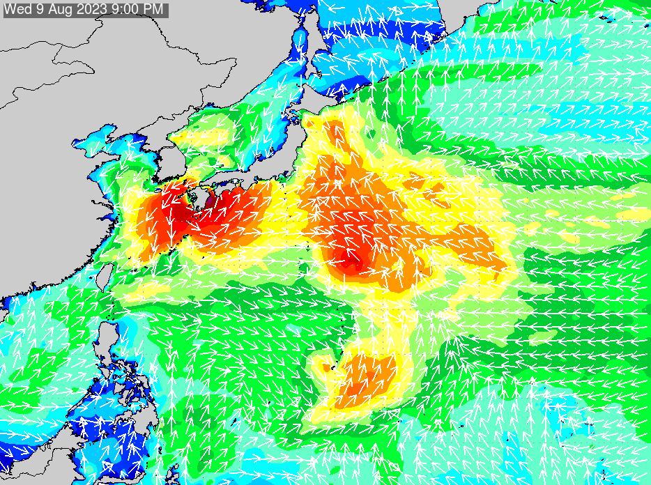 2019年3月29日(金)18:00の波浪画像