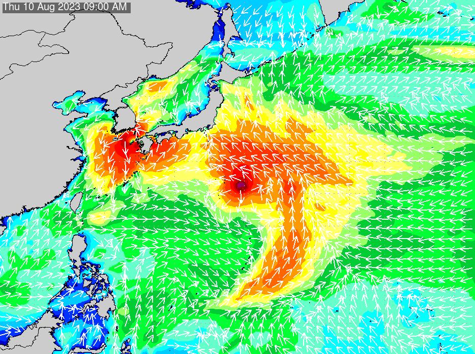 2019年9月25日(水)6:00の波浪画像