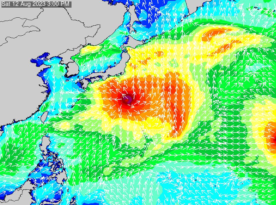 2019年9月25日(水)12:00の波浪画像