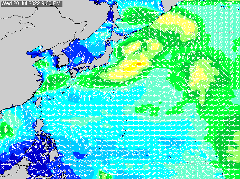 2019年6月19日(水)18:00の波浪画像
