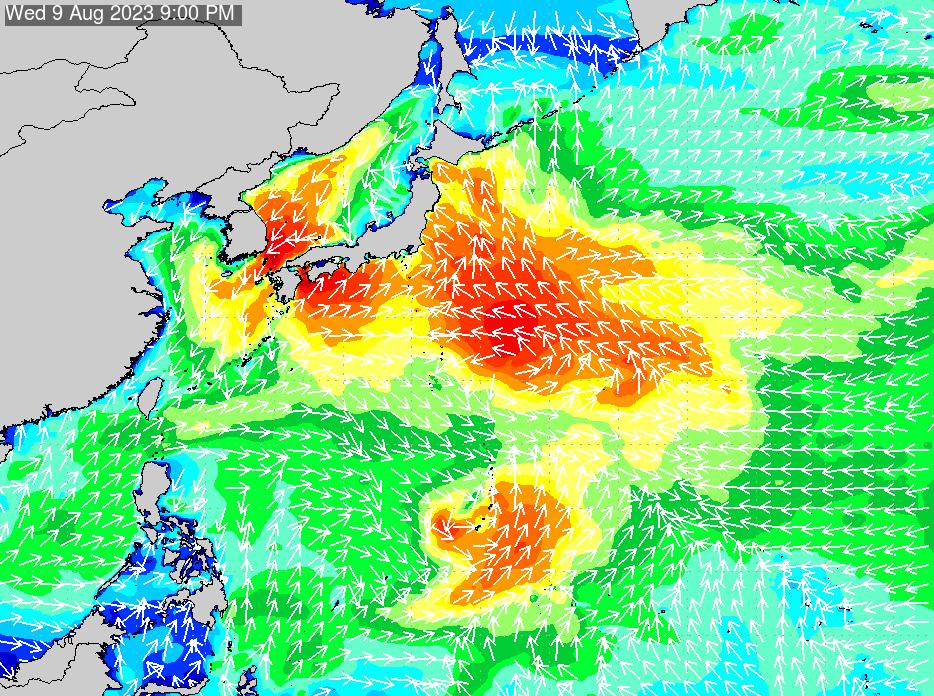 2019年6月24日(月)6:00の波浪画像