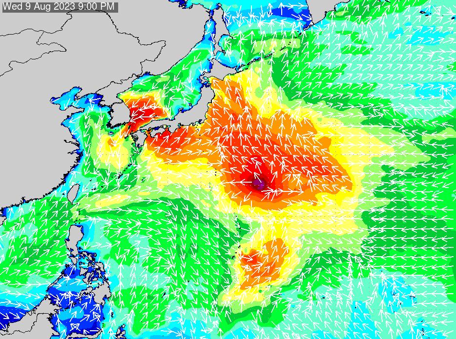 2019年9月26日(木)6:00の波浪画像