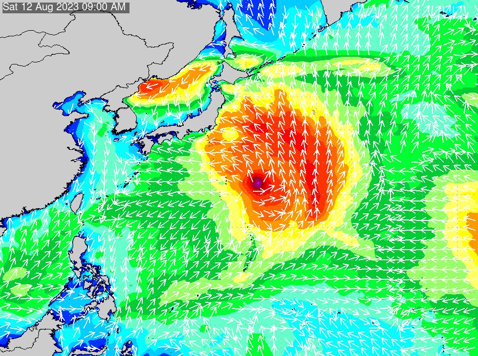 2019年9月26日(木)18:00の波浪画像