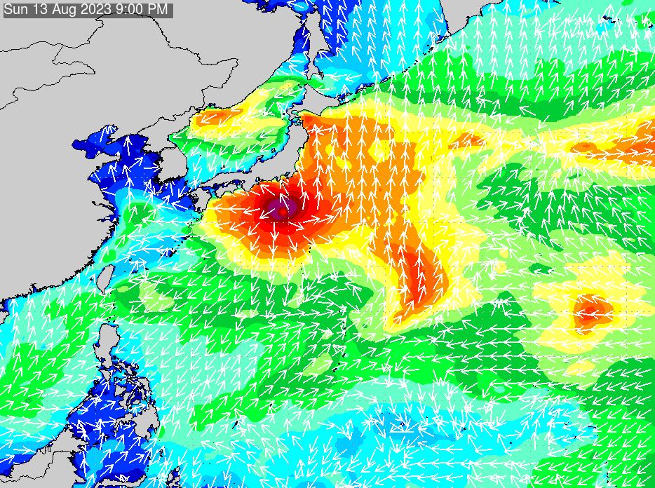 2019年9月27日(金)0:00の波浪画像